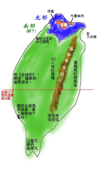 台北人的眼中