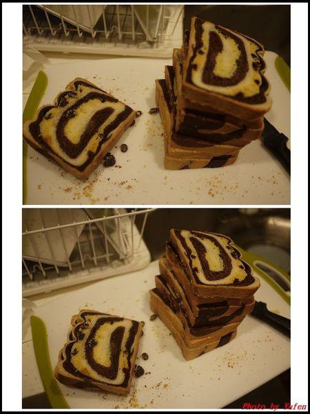 葡萄乾奶酥雙色吐司&熱狗起司片吐司(冷藏中種,26兩)12.jpg