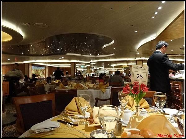 藍寶石公主郵輪day2晚餐0007.jpg