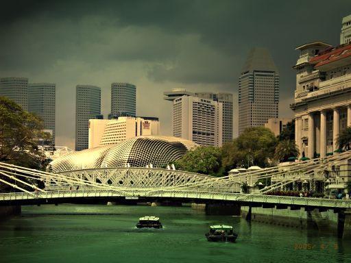 沿新加坡河一路走去,隨看隨拍