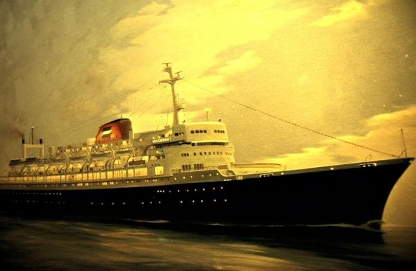 Volendam郵輪的油畫