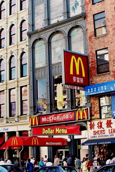紐約麥當勞也得加上中文
