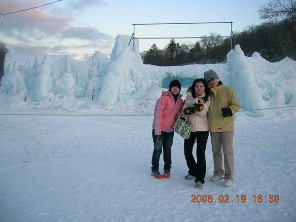 支芴湖-冰瀑