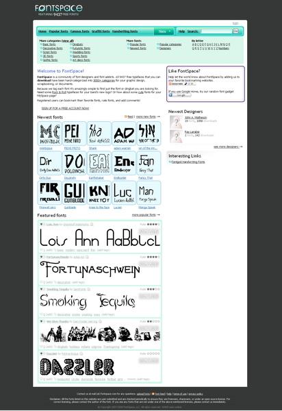 免費英文字型網站-fontspace