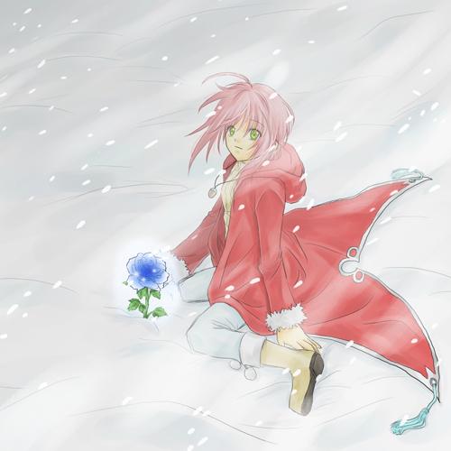 雪原に咲く花