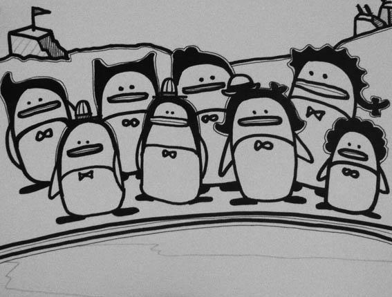 企鵝假髮家族