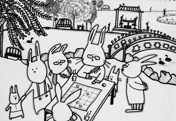 下象棋的兔爺爺