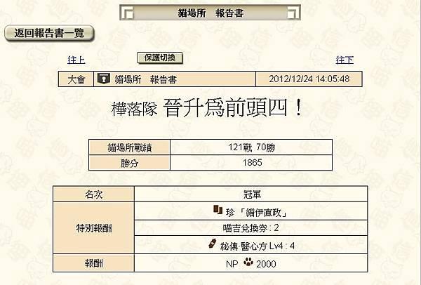 1224井伊直政貓場爭奪戰