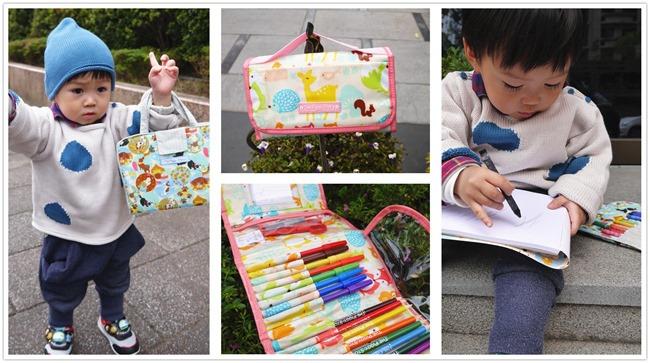 美國豬小妞畫家系列(2)。 小畫家蠟筆/畫具袋 小小畢卡索創意無限大