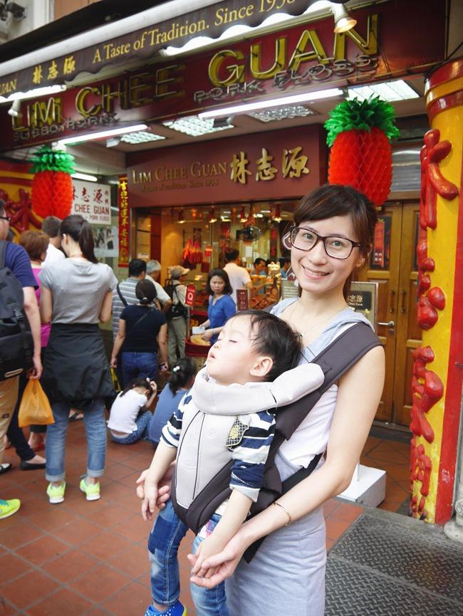 │食。新加坡│親子7天6夜自由行Day1。行家才知道吃的「LIM CHEE GUAN林志源肉乾」