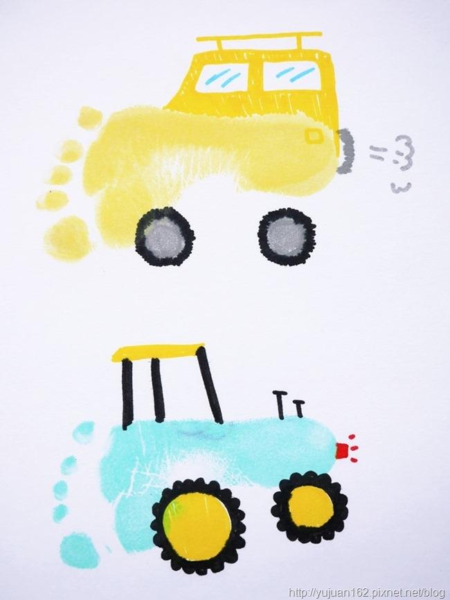 指印畫【車】