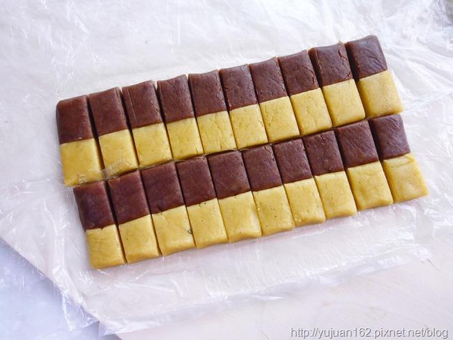 │手工餅乾食譜│第一次就上手!抹茶雙色餅乾+棋格餅乾