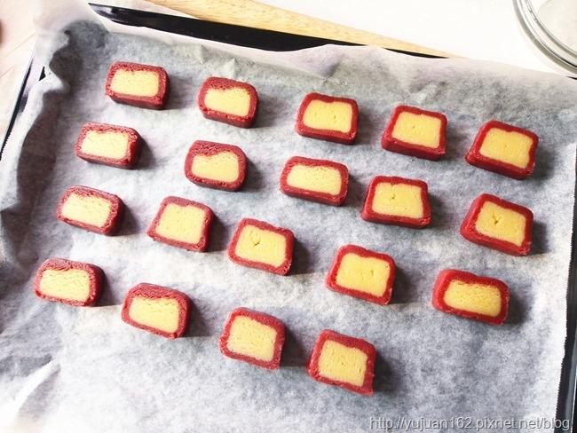 │手工餅乾食譜│磨牙餅-造型雙色紅麴餅乾
