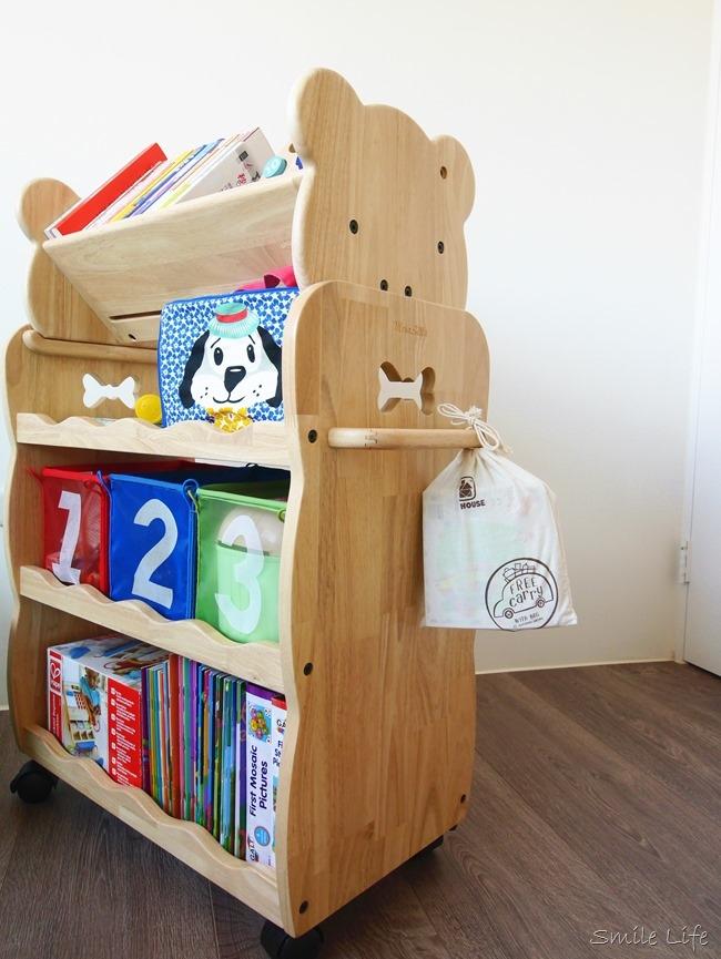 │兒童傢具│MesaSilla兒童原木傢俱。多幼能自主收納推車 一車多用質感UP!