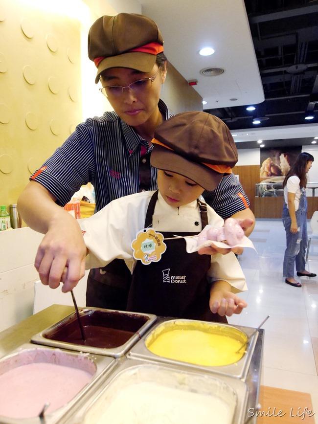 【親子體驗】Mister Donut小小烘焙師。幸福,就是要甜甜圈在一起