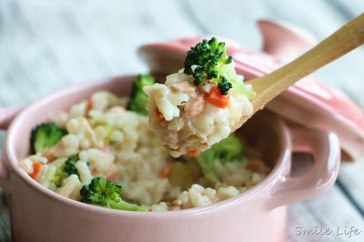 ▌副食品▌零調味很美味。1Y以上寶寶版「奶油法式鮭魚燉飯」