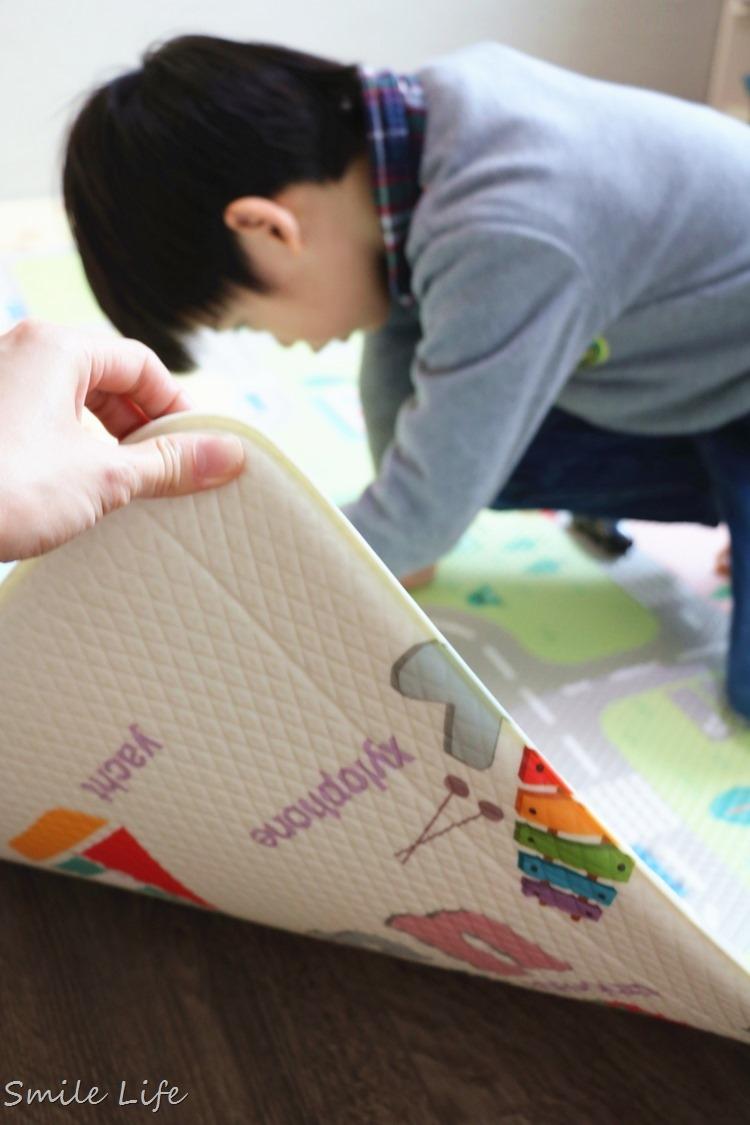 ▌育兒▌安全無毒防滑爬行/遊戲地墊。好Q彈「韓國Bamate雙面兒童遊戲地墊」車車控愛瘋了!