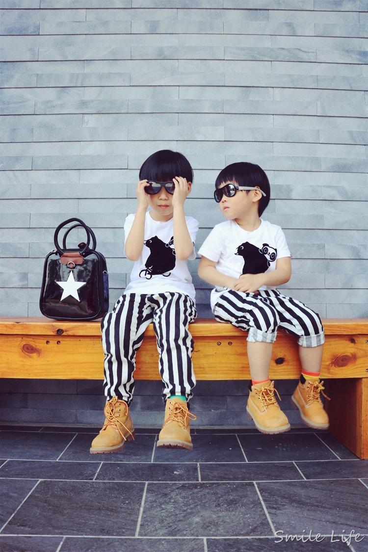 ▌百元親子裝穿搭▌ GIORDANOxHAPPIPLAYGROUND春夏聯名親子潮T。青春一夏