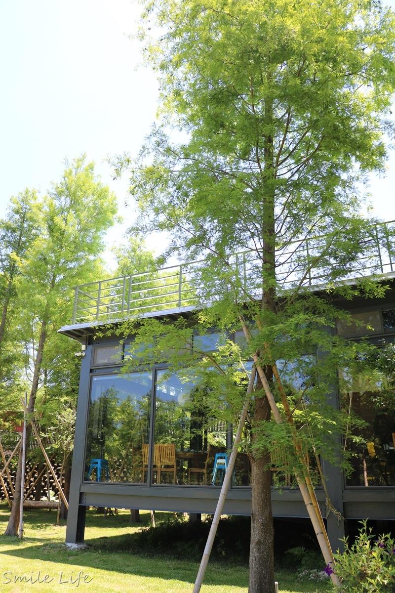 ▌新竹景點 ▌IG打卡熱點。落羽松環繞唯美愛心池秘境、還有夢幻玻璃屋吃美食