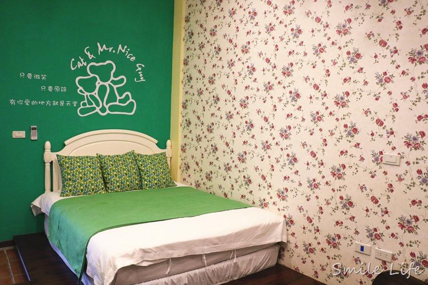 ▌花蓮親子民宿▌綠舍the Green Villa親子溜滑梯民宿。小閣樓美式鄉村比得兔主題房