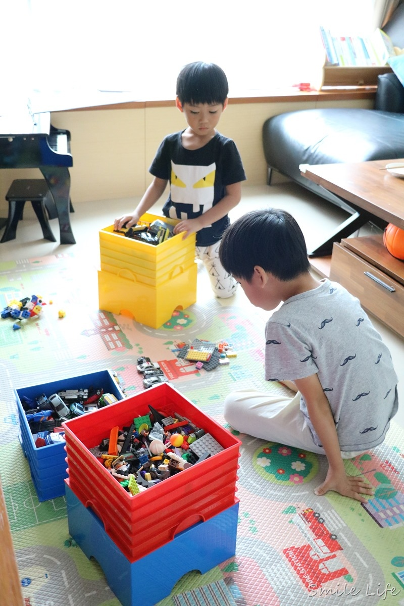 ▌收納控必備▌親愛的,我把樂高LEGO變大了!「樂高收納箱+百寶袋王」居家收納煥然一新