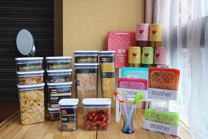 ▌廚房收納▌小豆芽矽晶環保吸管、OXO POP按壓式保鮮盒、stasher食品密封袋