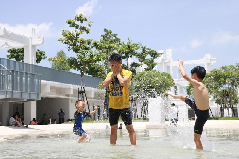 ▌台南親子景點▌免費玩水公園。河樂廣場古羅馬風。絕美潟湖親水區樂悠游。小孩開心爸媽更省苛包
