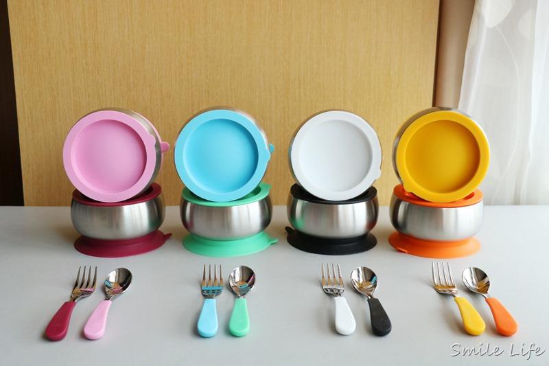 10/12開團預告▌副食品/兒童餐具推薦「美國Avanchy不鏽鋼+可拆吸盤兒童餐具」。雙層304食品級不鏽鋼。高顏值完美八色