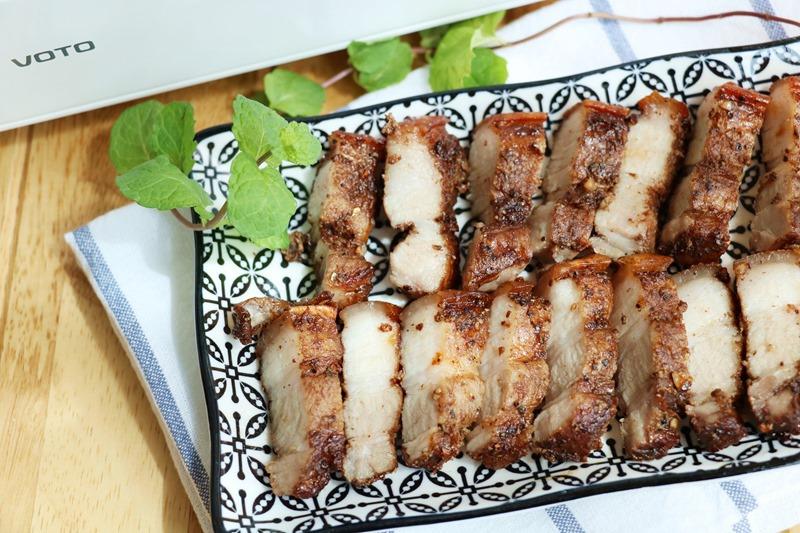▌韓國VOTO氣炸烤箱。食譜▌超簡單醃製方法、超罪惡的下飯菜「五香椒鹽五花肉」