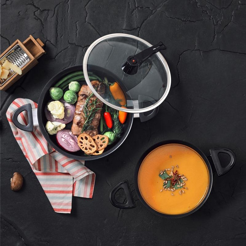 ▌食譜▌用主廚御用「Aero Chef韓國空氣鍋/不沾鍋」煮海鮮燉飯。免攪拌、免顧火、不黏底