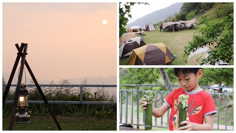 ▌森林人18露▌夕陽、雲海、竹林步道、竹筒飯DIY。苗栗泰安「哈撒山莊」露營區