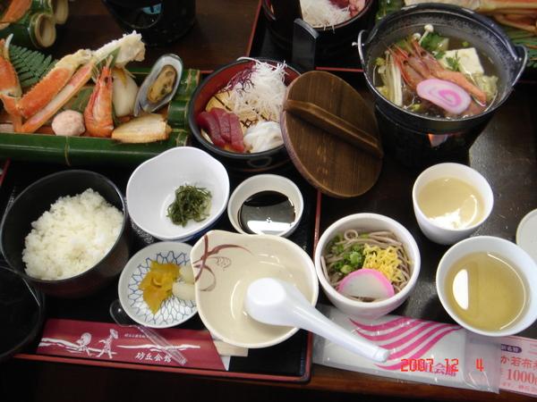 午餐~日式海鮮定食+長腳蟹