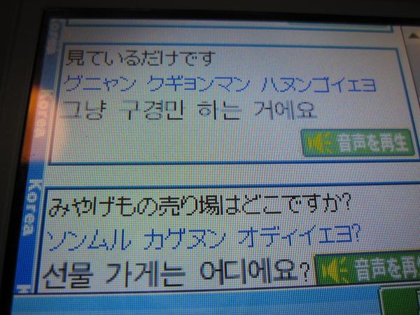 DS的韓國之旅軟體