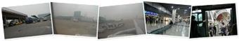 檢視 霧的澳門國際機場