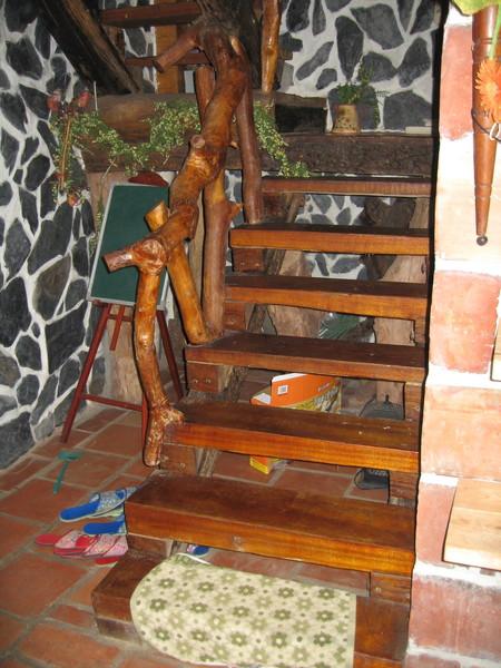 原木的樓梯