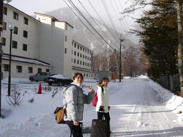 行走於冰天雪地