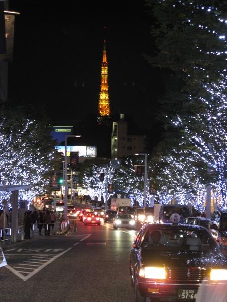 六本木的耶誕燈景