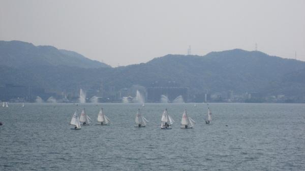 近拍湖上風帆