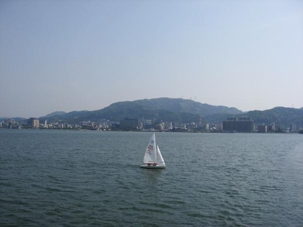 琵琶湖的風帆