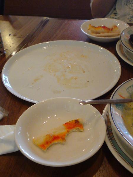終於吃完了