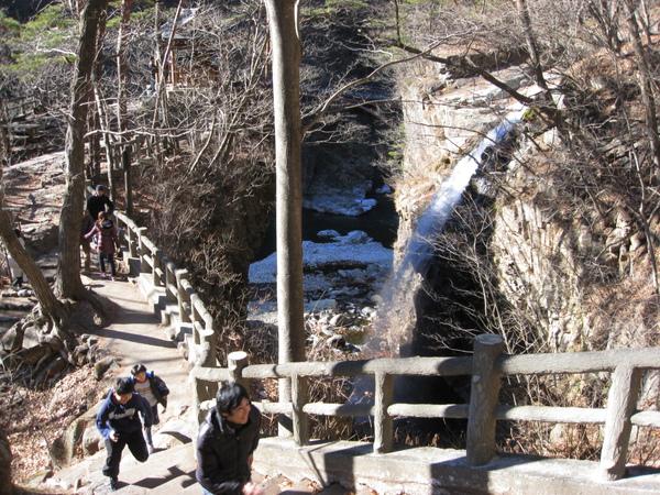 龍王峽的瀑布