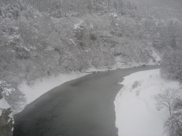 車窗外的雪景