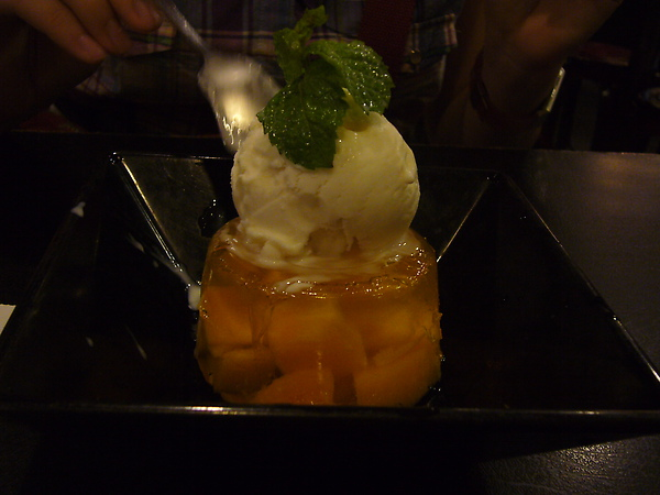 芒果凍+冰淇淋