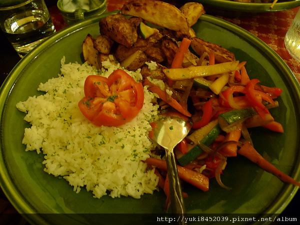 烤蔬菜& 飯