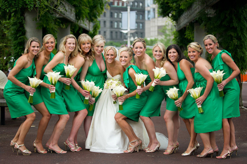 green bridesmiad dresses