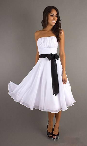 new-Strapless Knee Length Homecoming Dress-1.jpg