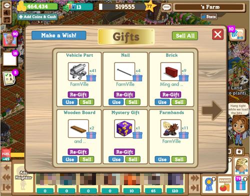 2010100101Facebook上的FarmVille(我沒有錢買3-in-1耕耘機)