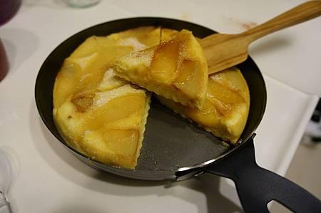 小鐵鍋蘋果鬆餅