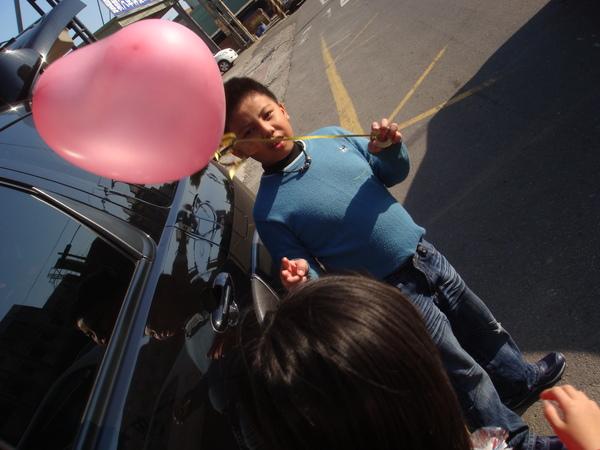 氣球   (以前他們很怕氣球...現在卻不怕了)