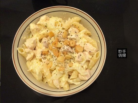 白醬雞肉筆管麵1